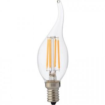 """Лампа Светодиодная """"Filament flame - 6"""" 6W свеча на ветру Е14 4200К"""