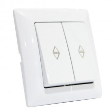 Выключатель проходной 2-клавишный белый TINA