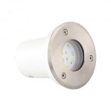 Светильни тротуарный  SAFIR LED 1,2W  мат.хром синий