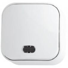 Выключатель 1-клавишный с подсветкой белый EVA