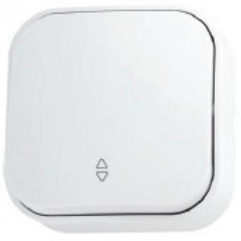 Выключатель проходной 1-клавишный белый EVA