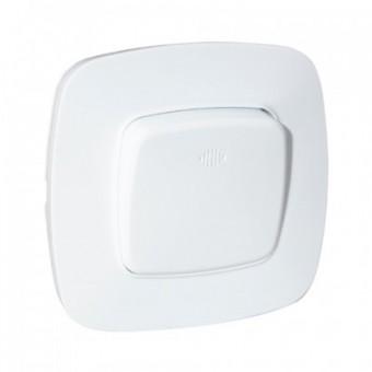 Выключатель 1-клавишный белый с подсветкой ELA