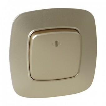 Выключатель 1-клавишный золото с подсветкой ELA