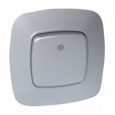 Выключатель 1-клавишный серебро с подсветкой ELA