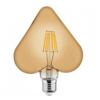 """Лампа  """"RUSTIC HEART-6"""" 6W Filament led 2200К  E27"""