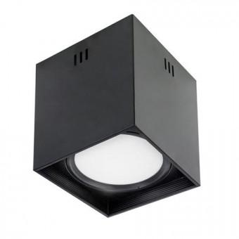"""Светильник  накладной квадрат.""""SANDRA-SQ10/XL"""" 10W 4200K черный"""