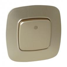 Выключатель 1-клавишный с подсветкой золото ELA