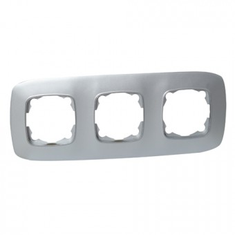 Рамка 3-ная серебро ELA