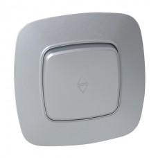 Выключатель проходной 1-клавишный серебро ELA