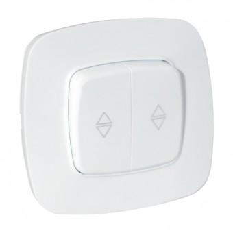 Выключатель проходной 2-клавишный белый ELA